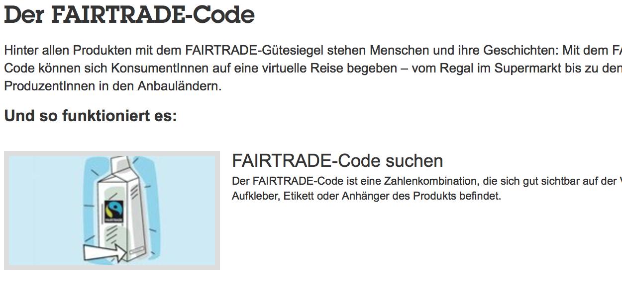 Quelle: http://www.fairtrade.at/produkte/fairtrade-code/